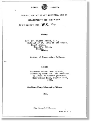 Witness Statement | Bureau of Military History