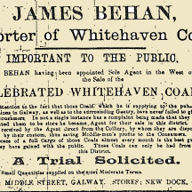 Advertisement taken from the Galway Express, published on the 8th of January 1916