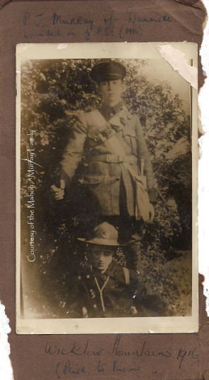 Patrick J Murray, Irish Volunteer, in the Wicklow Mountains prior to Easter 1916. | Courtesy of the Mahon / Murray Family.