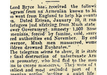 From the Papers 02 January 1916: Armenian Genocide