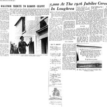 Ballymoe.1966.Newspaper Cuttings. 1916 Eamonn Ceannt Festival | Connacht Tribune 1966