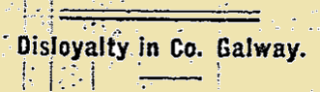 Taken from the Galway Express on 22 January 1916