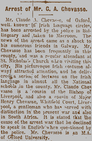 Image from the Galway Express 12 January 1916