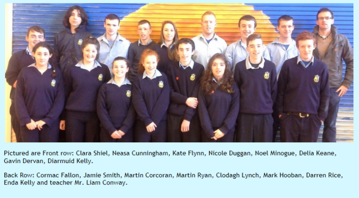 Mercy College, Woodford's Transition Year class of 2014.