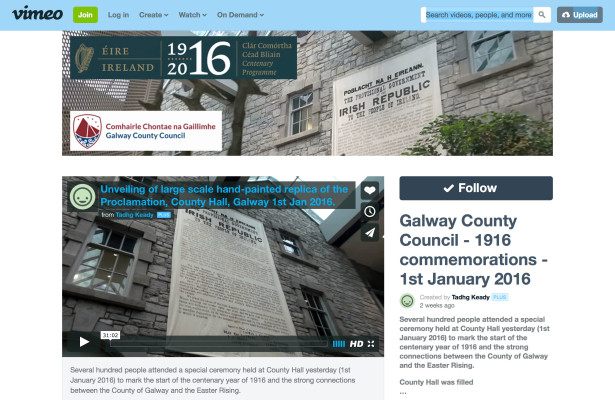 Galway County Council Vimeo Channel | Galway Co.Co.