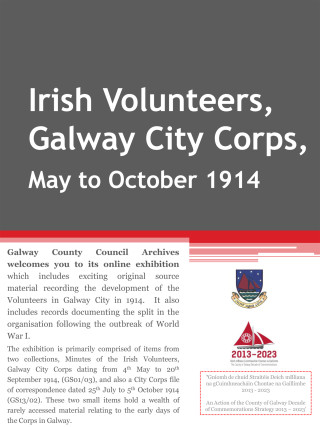 Volunteers in Galway City 1914 | Galway County Council