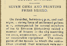 From the Papers 29 January 1916: Police Raid in Dublin
