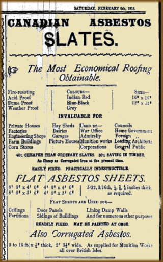 Advertisement Taken from the Connaught Telegraph 05 February 1916