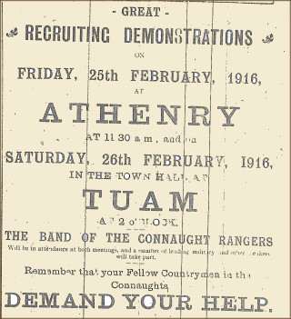 Advertisement taken from the Tuam Herald 26 February 1916