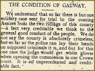 Snippet taken from the Tuam Herald 26 February 1916