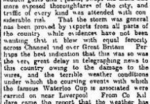 From the Papers 17 February 1916: Weather Wednesday