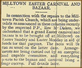 Snippet taken from the Tuam Herald 12 Februrary 1916