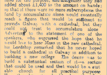 From the Papers 16 February 1916: New Cathederal for Galway