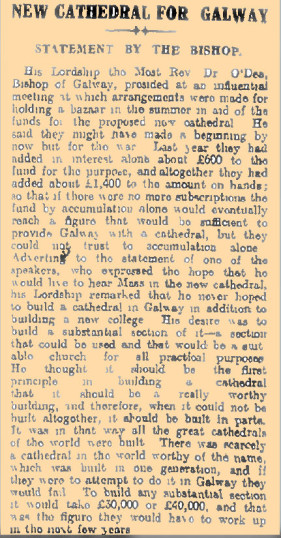 Snippet taken from the Freeman's Journal 16/02/1916