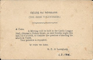 The Irish Volunteers Tuam Inaugral Meeting | liamlangley.blogspot.ie