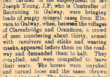 From the Papers 12 February 1916: Strange Affair in Galway, Carmen held up and searched