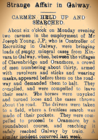 Snippet taken from the Kerry Sentinel 12 February 1916