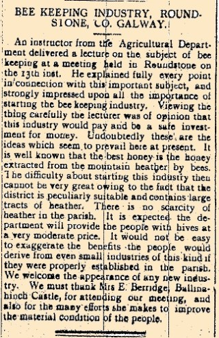 Snippet taken from the Tuam Herald 18  March 1916