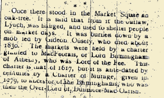 Extract from the Dunmore notes, Tuam Herald 11 March 1916