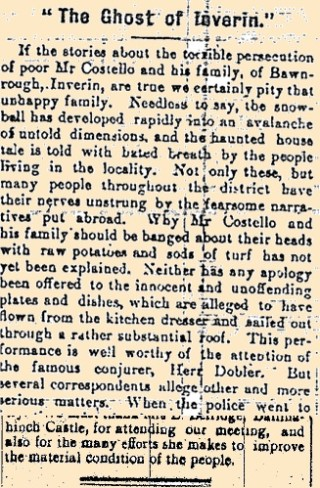 Snippet taken from the Galway Express 18 March 1916