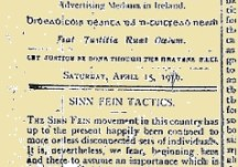 "Sinn Fein Tactics - ""They cannot expect to gain anything"""