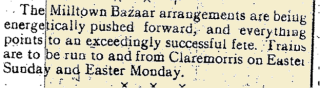 Snippet from the Tuam Herald 11 March 1916
