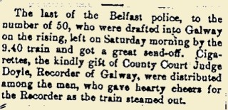 Snippet from the Galway Express 20 May 1916