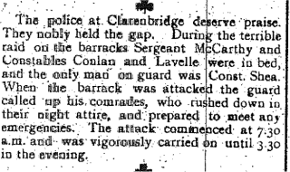 Snippet taken from the Tuam Herald 27 May 1916