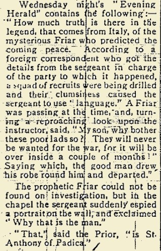 Snippet taken from the East Galway Democrat 17 June 1916