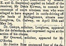 Sentencing the cattle-drivers of Mullaghmore