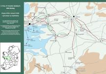 Mapa d'Éirí Amach 1916 i gContae na Gaillimhe