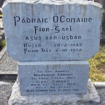 Grave of celebrated author Pádraic Ó Conaire