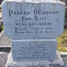 Grave of celebrated author Pádraic Ó Conaire