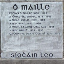 Grave of Tomás Ó Máille and family; journalist, professor and Republican