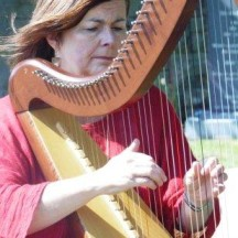 Harpist Áine Sheridan playing 'The Foggy Dew', 'Táimse I'm Choladh' and 'Jimmy Mo Mhíle Stór'