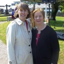 Patria McWalter, Archivist, Galway County Council with Mary Gallagher, grandniece of Éamonn Ceannt