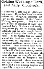 Lord and Lady Clonbrock's Anniversary