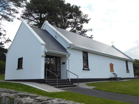 Former Schoolhouse (now Seipéal An Ghoirt Mhóir), An Gort Mór | Photo: Courtesy Dr. Mark McCarthy
