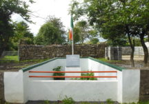 Monument at the ruins of the O'Fathaigh's House