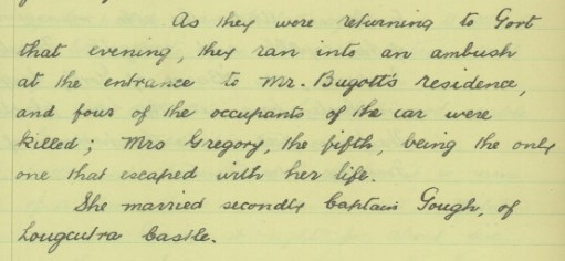 An account of the ambush at Ballyturin House, 1921 | National Folklore Collection, UCD